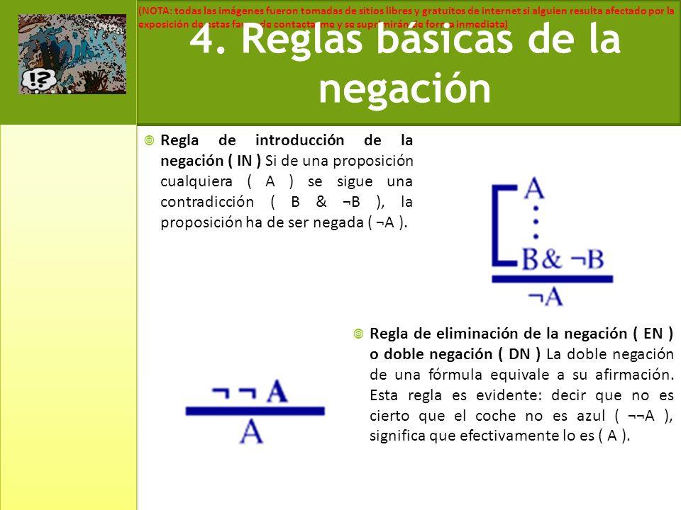 4. Reglas básicas de la negación
