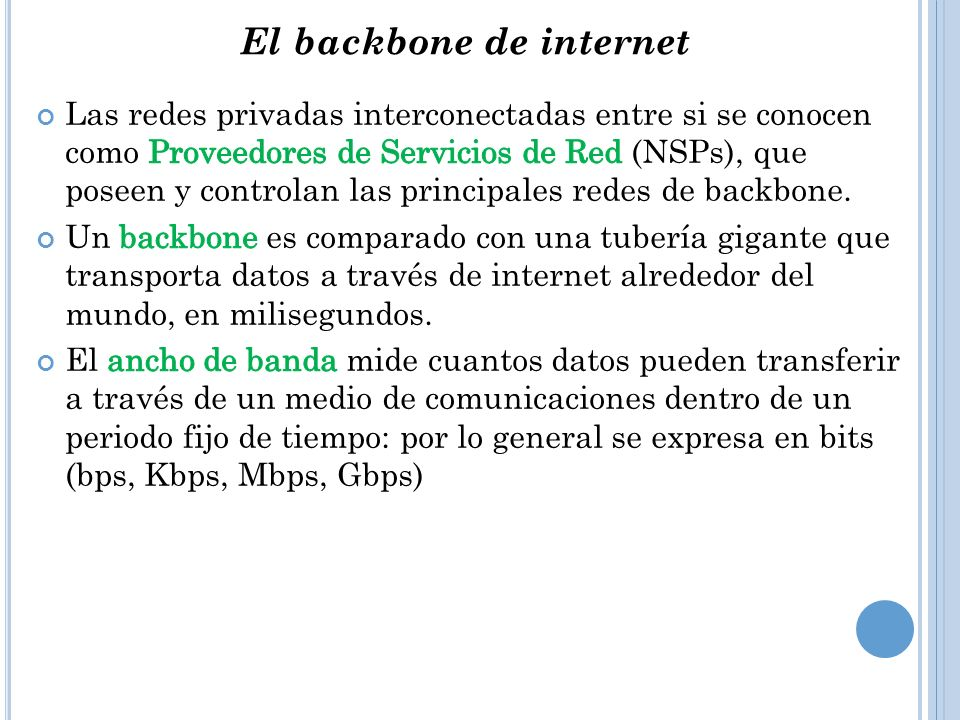 El backbone de internet
