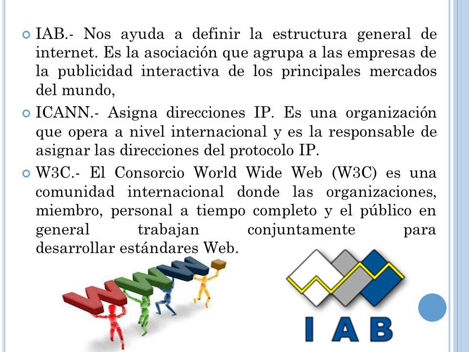 IAB. - Nos ayuda a definir la estructura general de internet