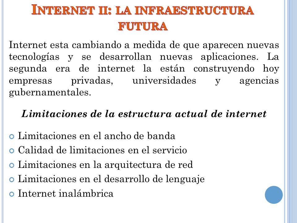 Internet ii: la infraestructura futura