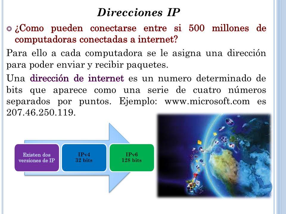 Existen dos versiones de IP