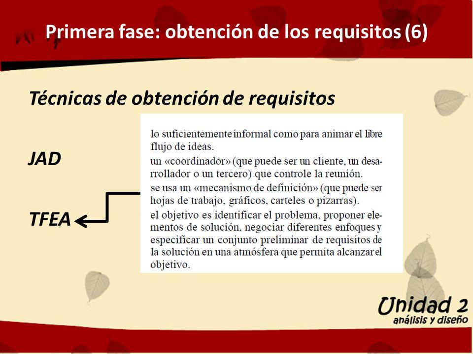 Primera fase: obtención de los requisitos (6)