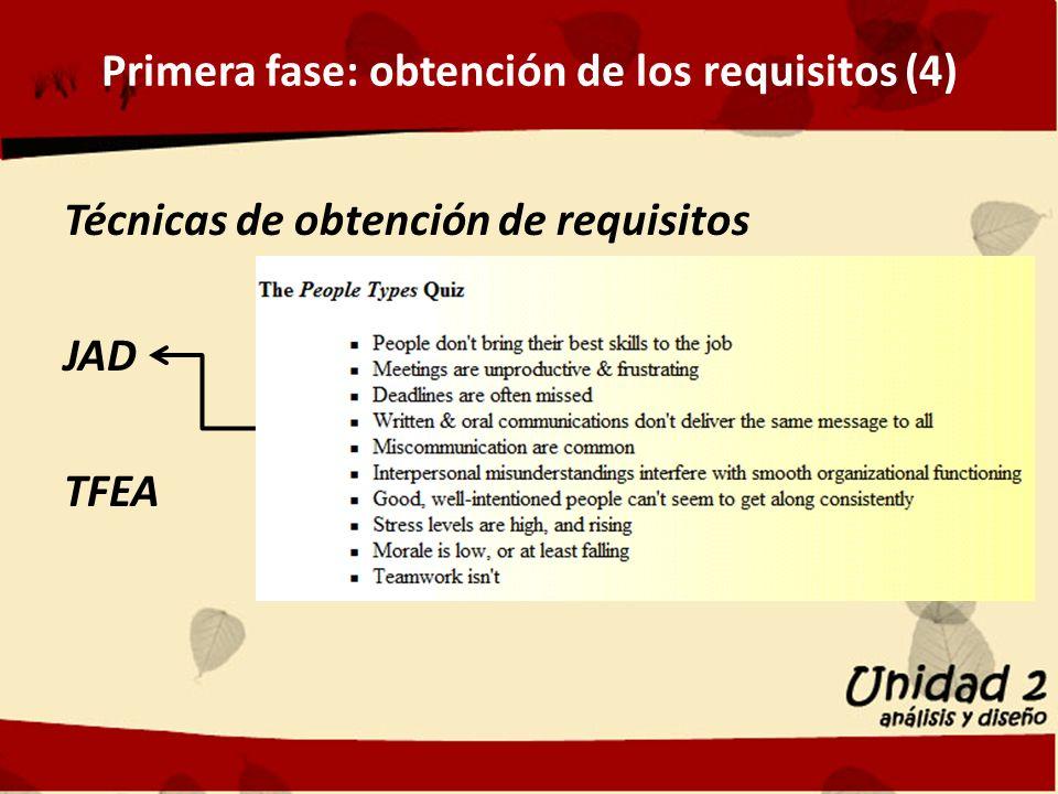Primera fase: obtención de los requisitos (4)