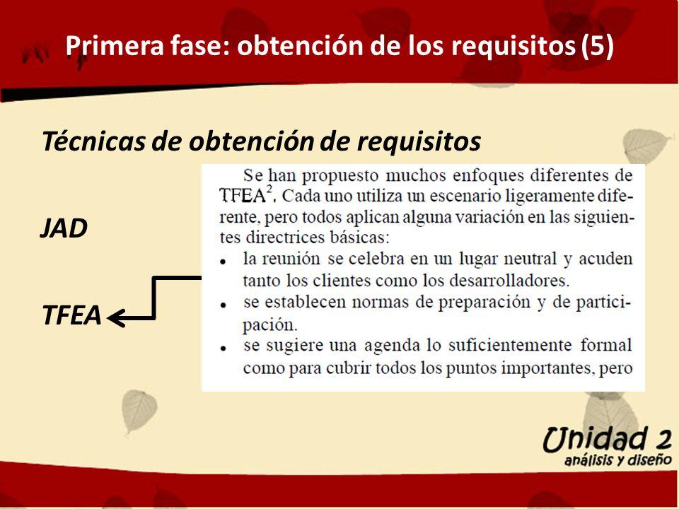 Primera fase: obtención de los requisitos (5)
