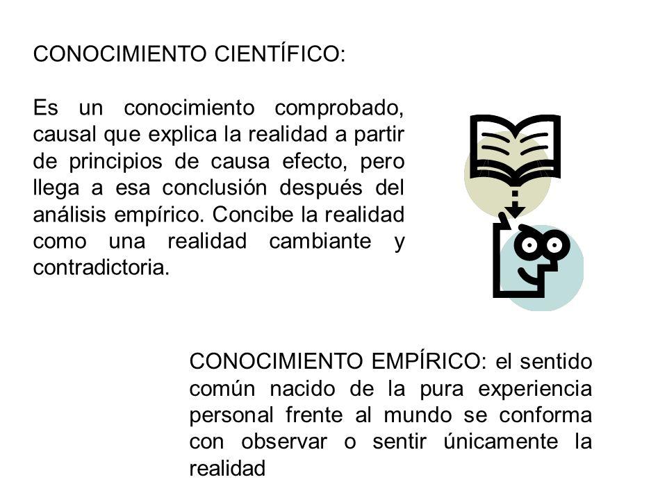 CONOCIMIENTO CIENTÍFICO: