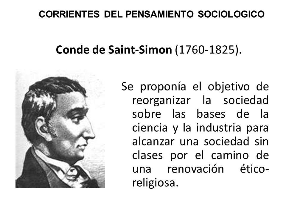 Conde de Saint-Simon (1760-1825).