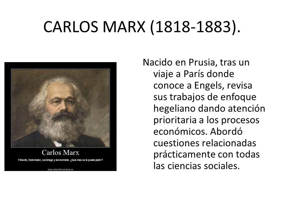 CARLOS MARX (1818-1883).