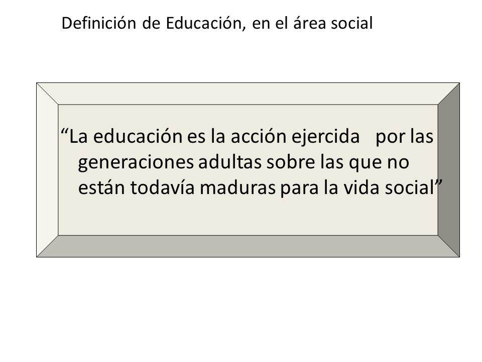 Definición de Educación, en el área social