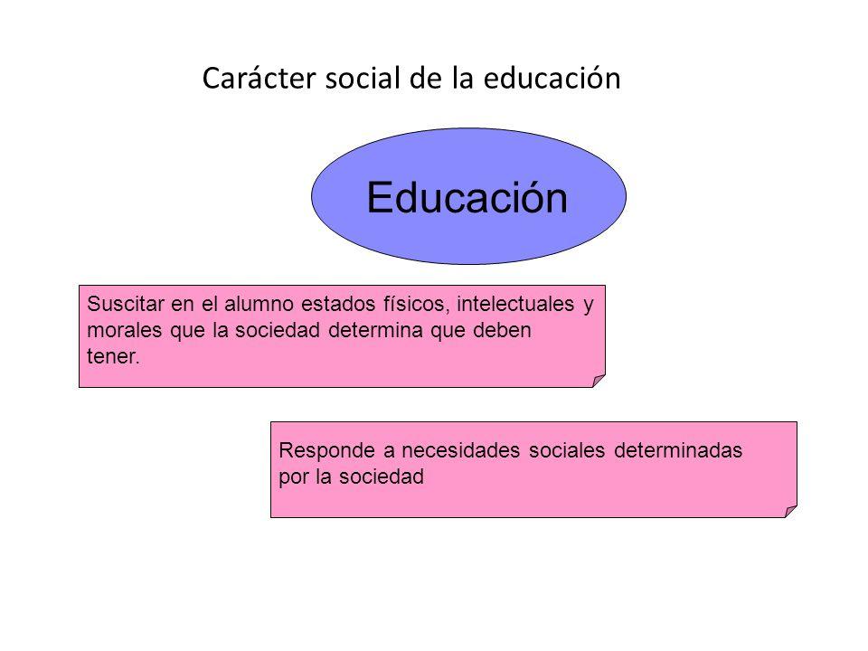 Carácter social de la educación