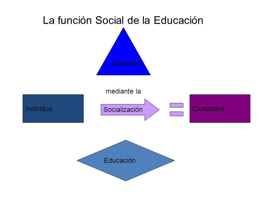 La función Social de la Educación