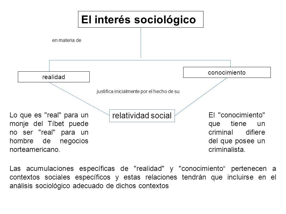 El interés sociológico