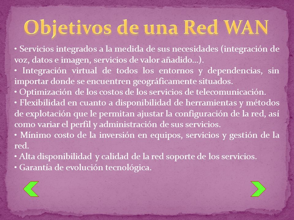 Objetivos de una Red WAN