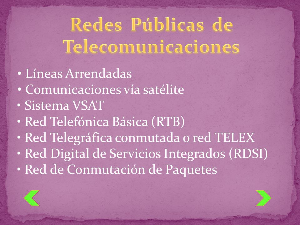 Redes Públicas de Telecomunicaciones
