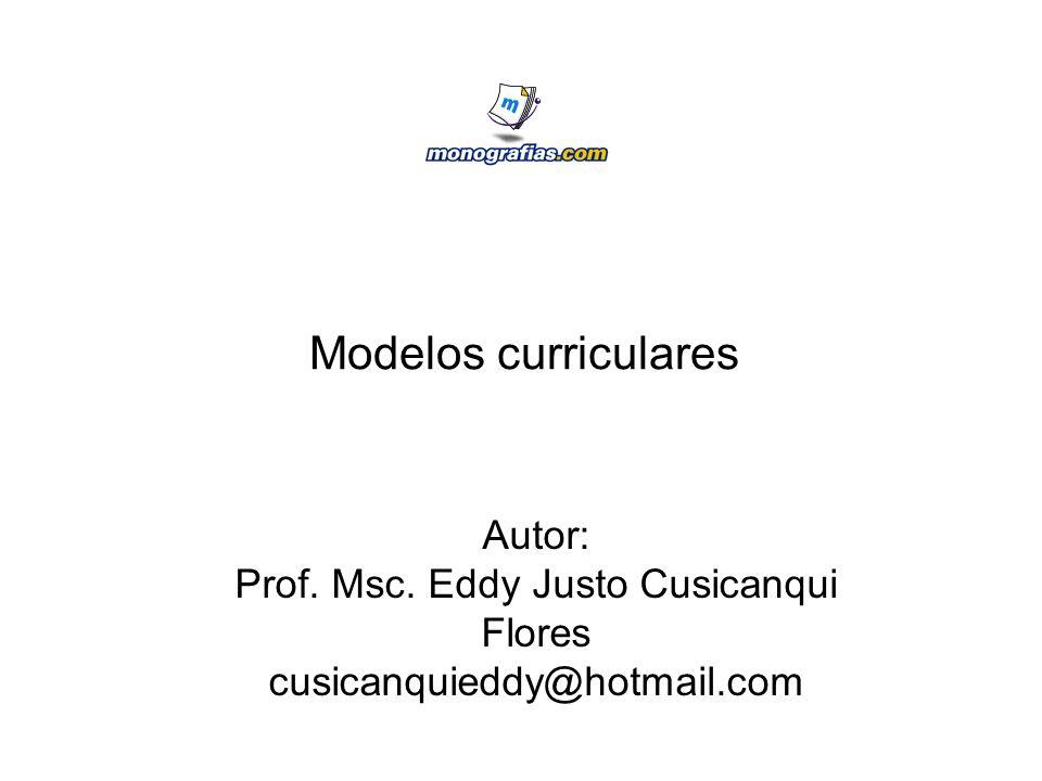 Prof. Msc. Eddy Justo Cusicanqui Flores