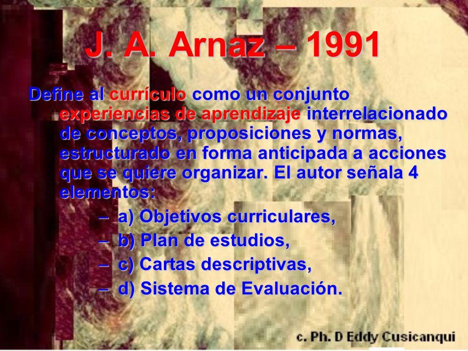 J. A. Arnaz – 1991