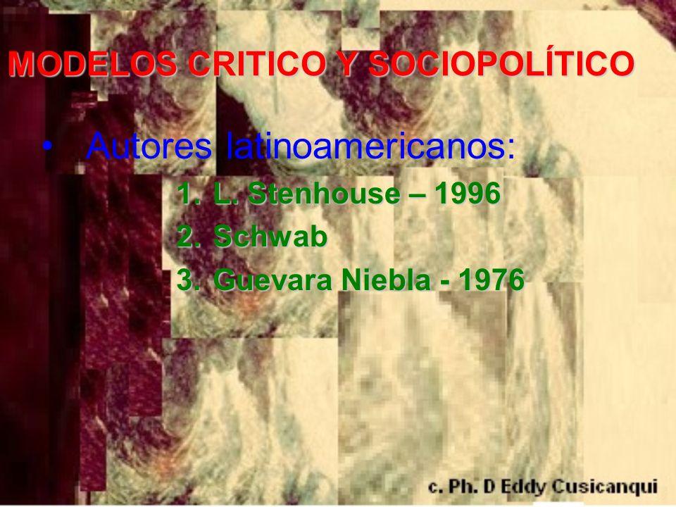 MODELOS CRITICO Y SOCIOPOLÍTICO