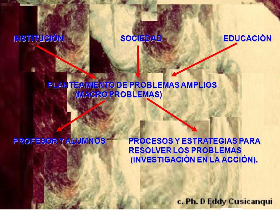 INSTITUCIÓN SOCIEDAD EDUCACIÓN