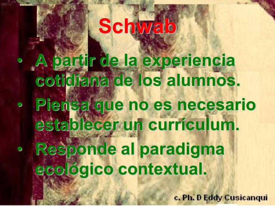Schwab A partir de la experiencia cotidiana de los alumnos.