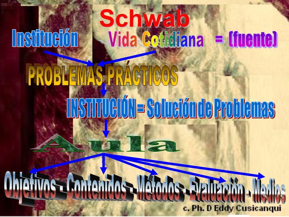 Schwab Institución Vida Cotidiana = (fuente) PROBLEMAS PRÁCTICOS