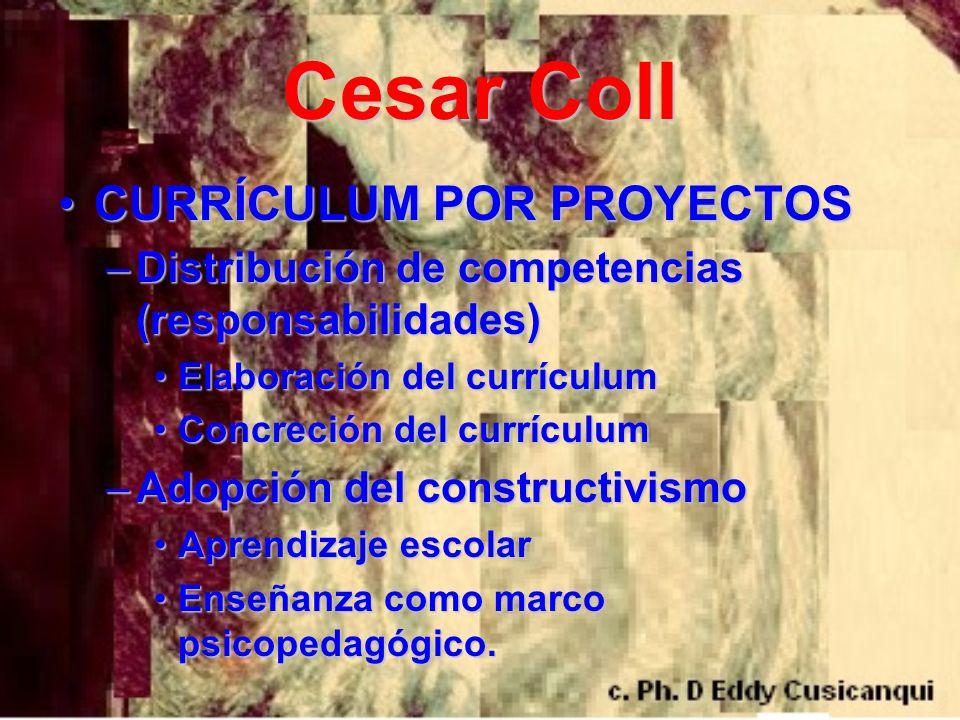 Cesar Coll CURRÍCULUM POR PROYECTOS