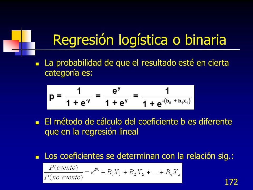 Regresión logística o binaria