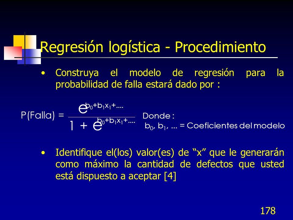 Regresión logística - Procedimiento