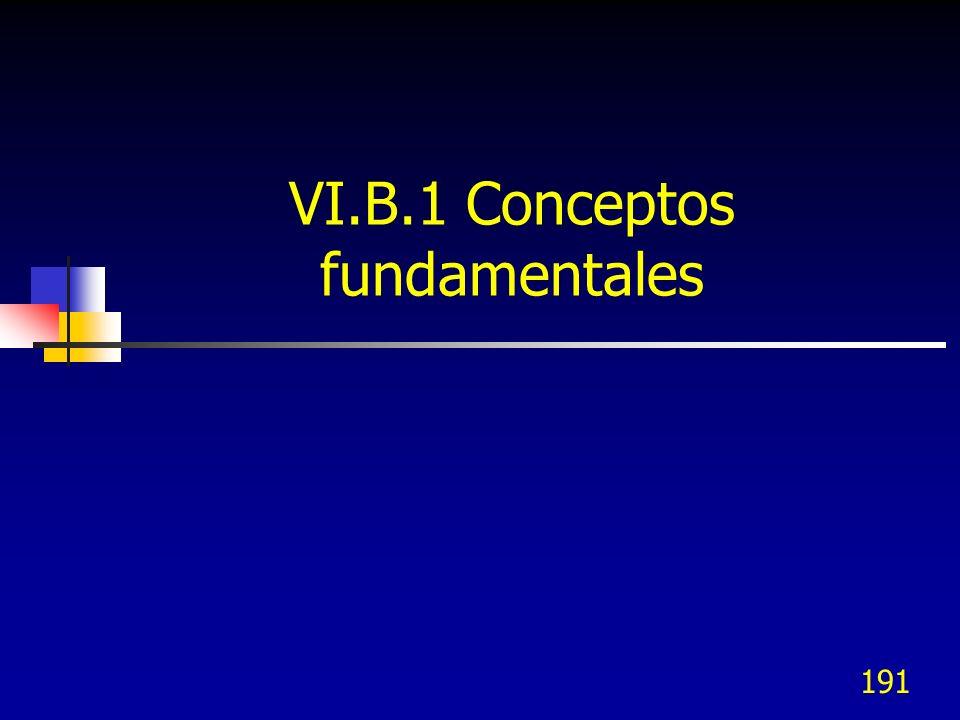 VI.B.1 Conceptos fundamentales