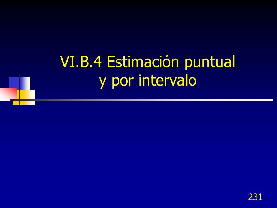 VI.B.4 Estimación puntual y por intervalo