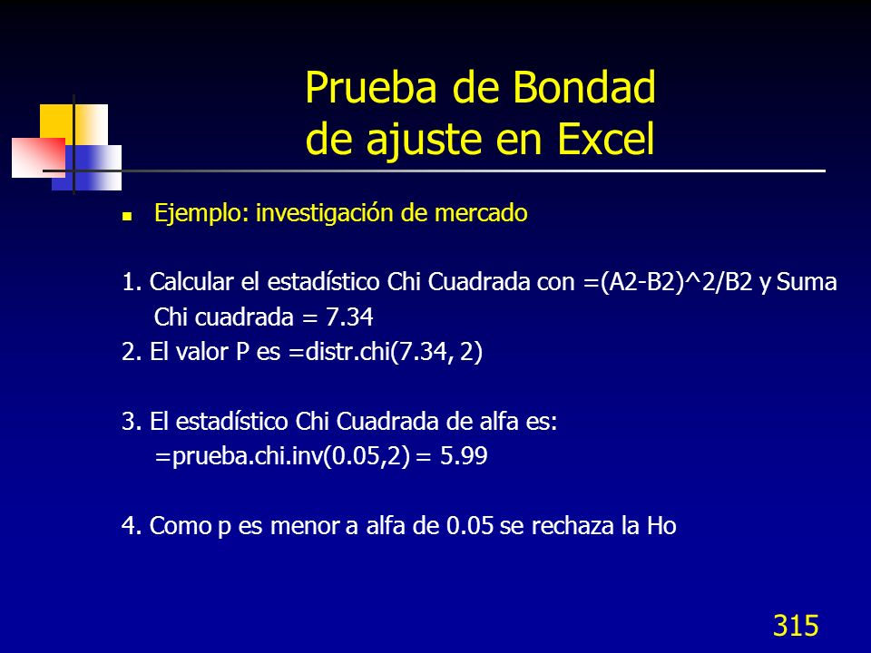 Prueba de Bondad de ajuste en Excel