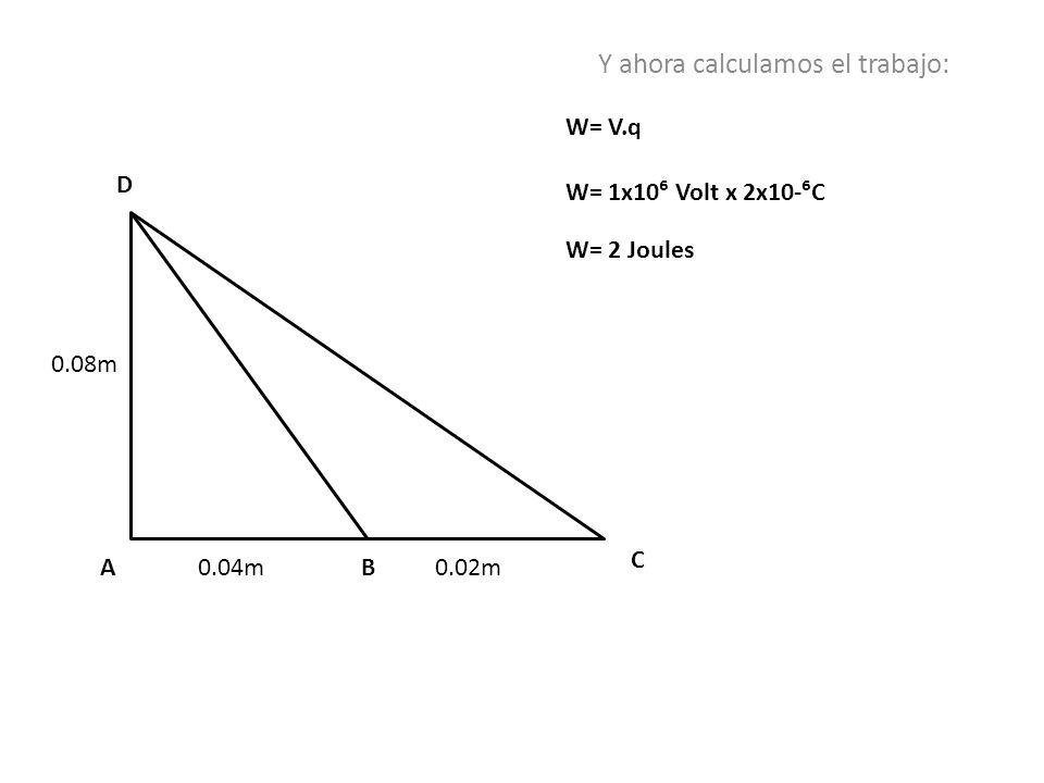 Y ahora calculamos el trabajo:
