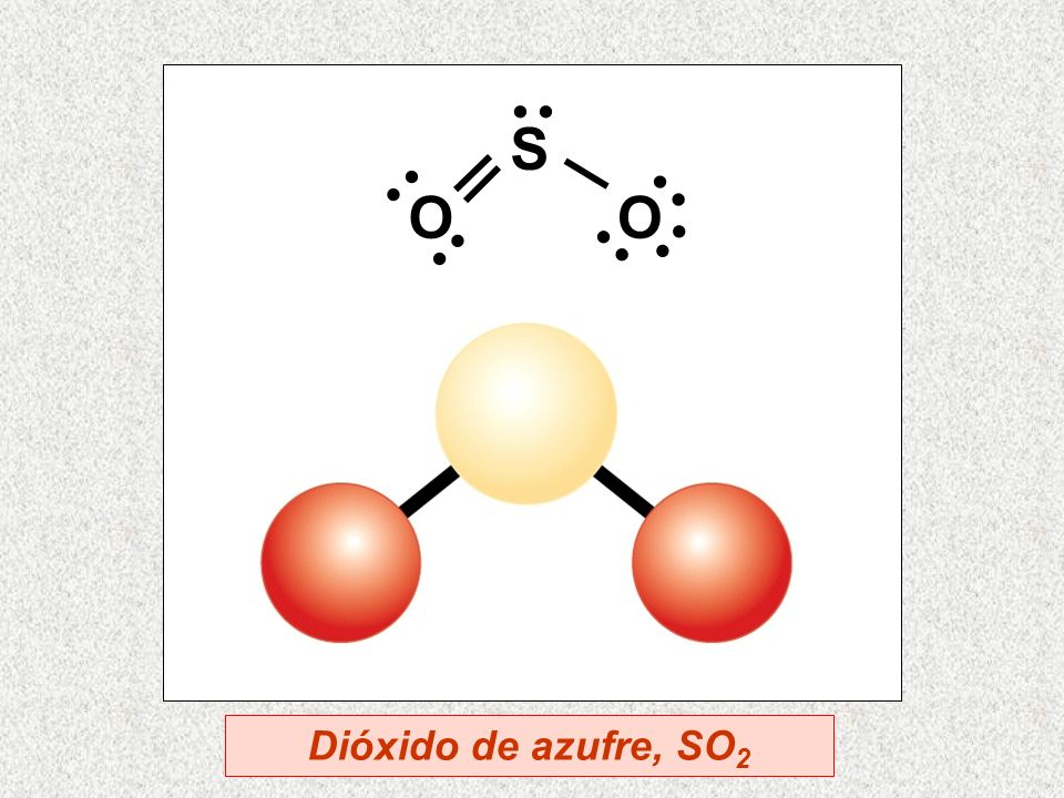 S O · · Dióxido de azufre, SO2