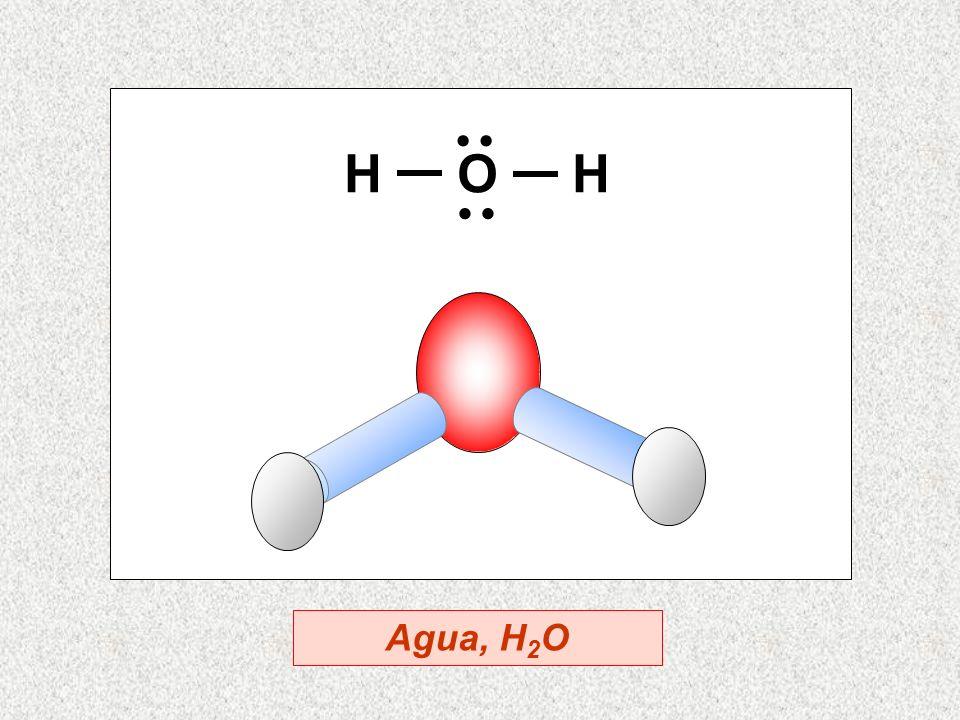 H O H · · Agua, H2O
