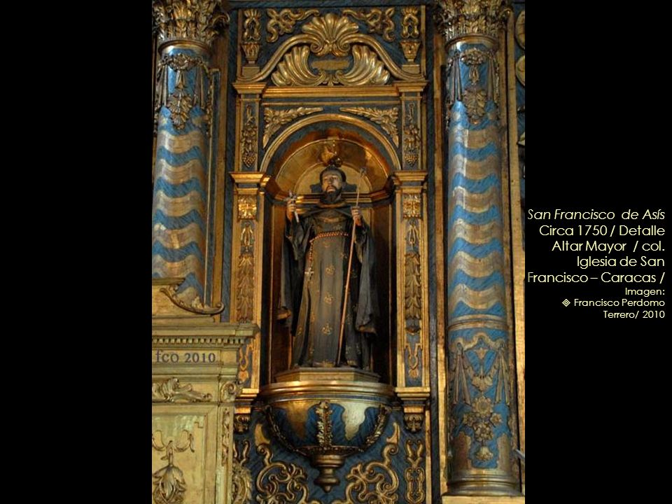 San Francisco de Asís Circa 1750 / Detalle Altar Mayor / col