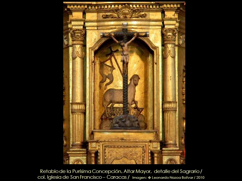 Retablo de la Purísima Concepción, Altar Mayor, detalle del Sagrario /