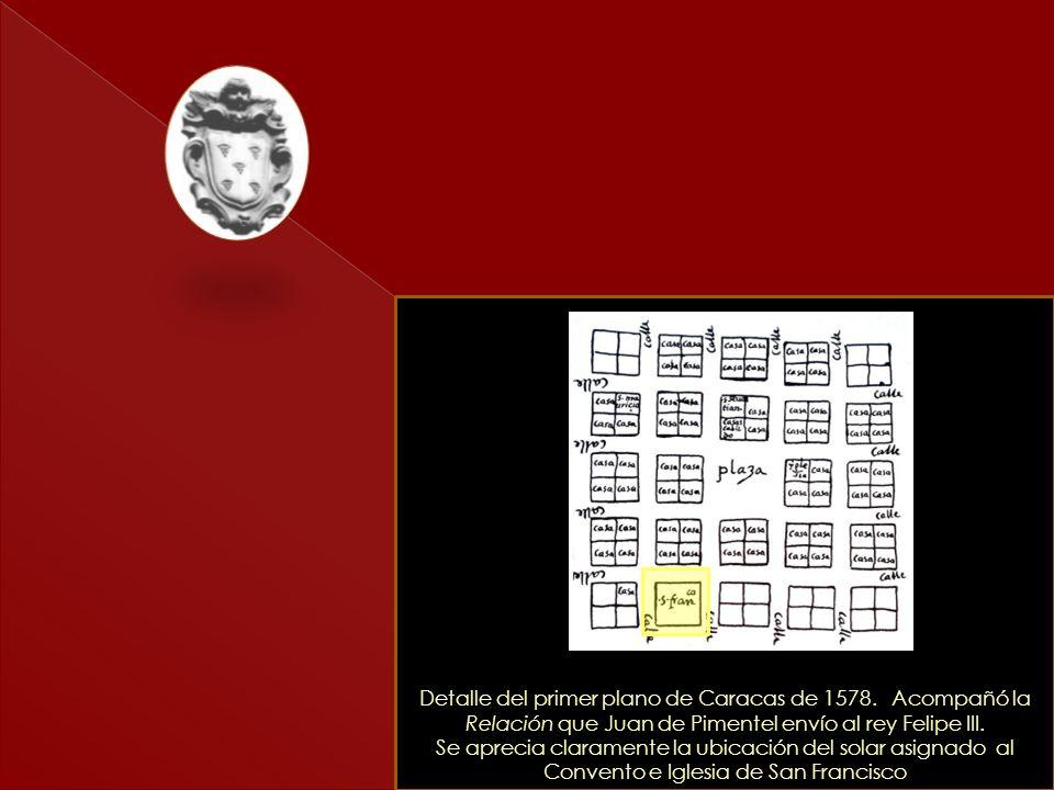Detalle del primer plano de Caracas de 1578
