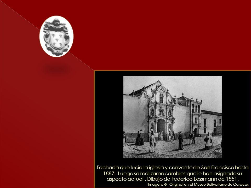 Fachada que lucia la iglesia y convento de San Francisco hasta 1887