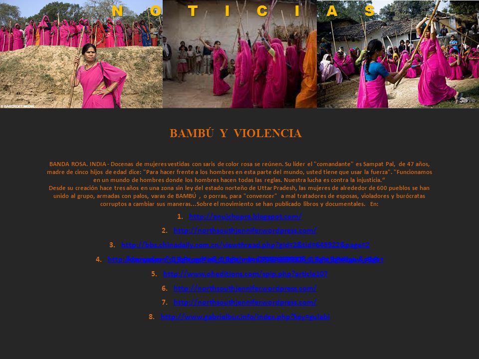NOTICIAS BAMBÚ Y VIOLENCIA http://anujchopra.blogspot.com/
