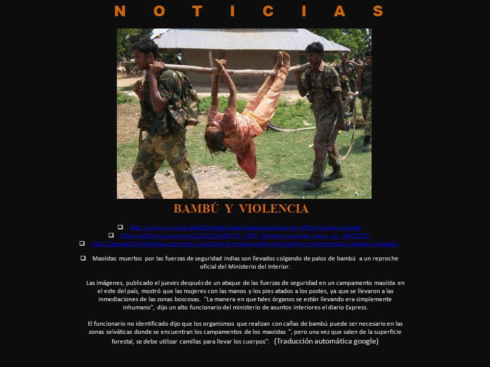 NOTICIAS BAMBÚ Y VIOLENCIA