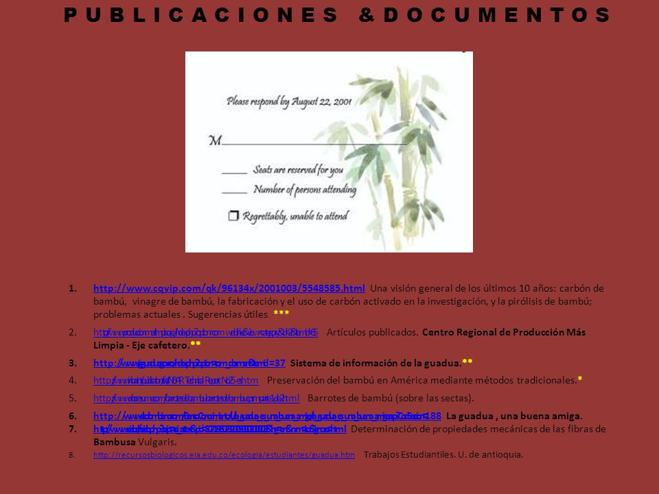 PUBLICACIONES &DOCUMENTOS
