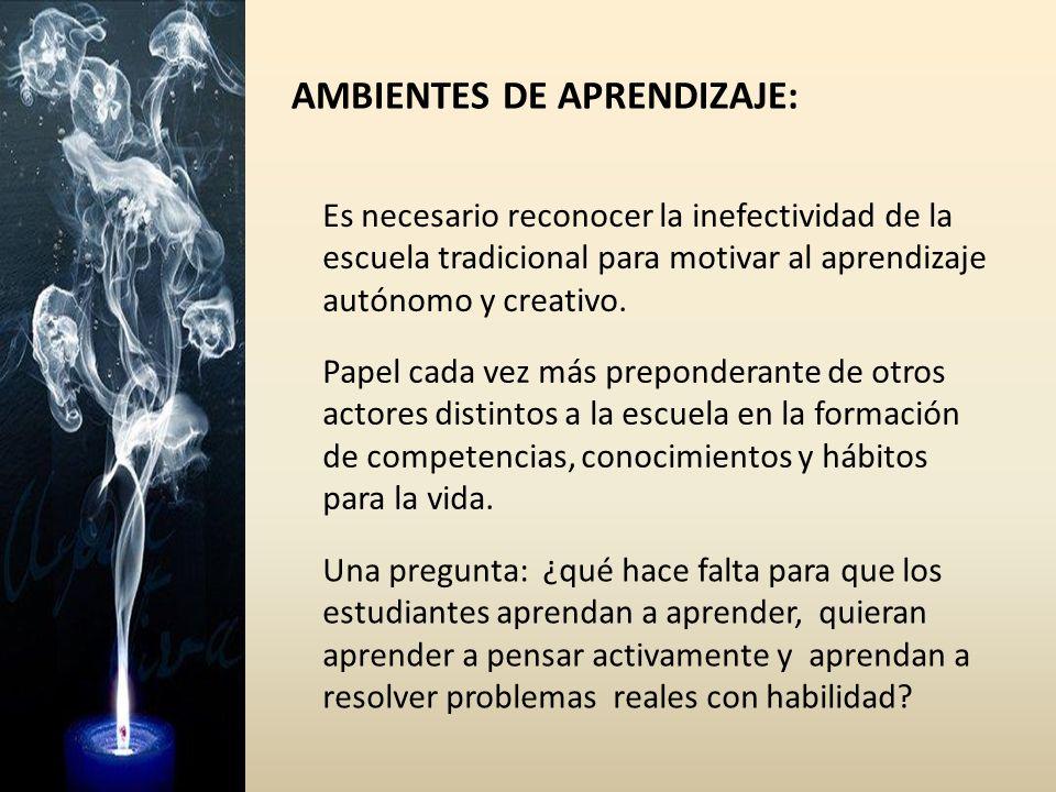 AMBIENTES DE APRENDIZAJE: