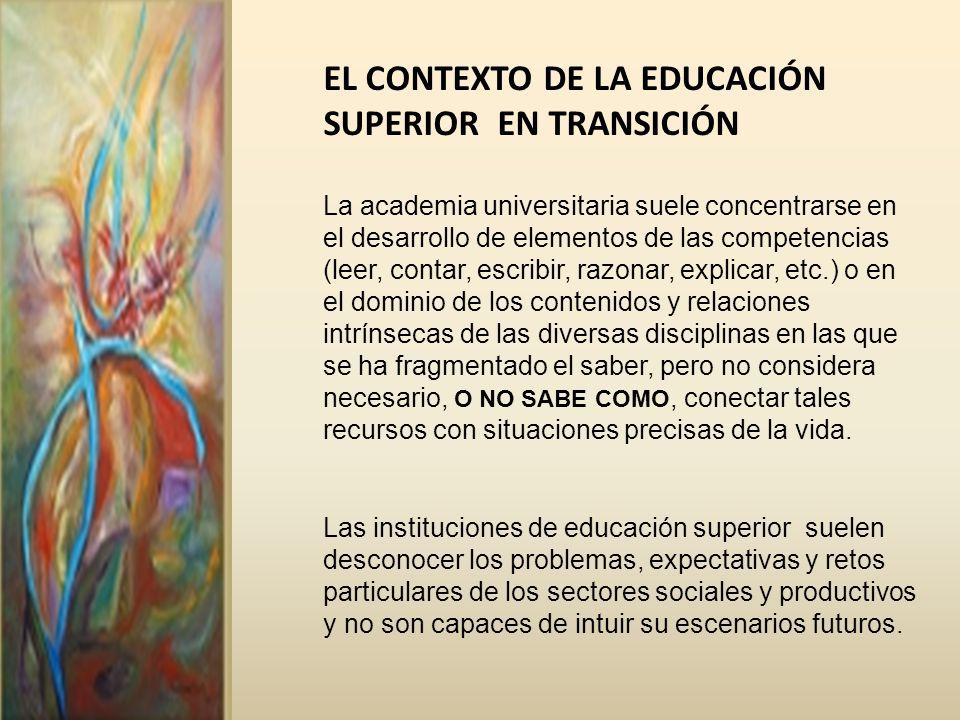 EL CONTEXTO DE LA EDUCACIÓN SUPERIOR EN TRANSICIÓN