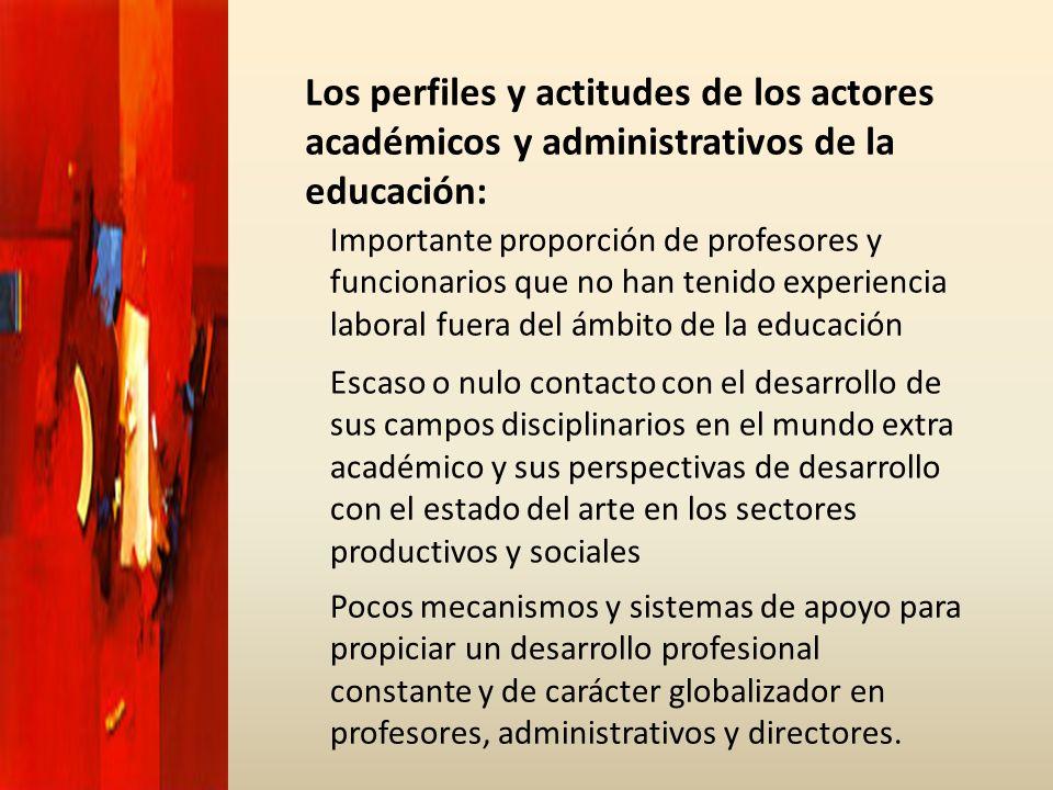 Los perfiles y actitudes de los actores académicos y administrativos de la educación: