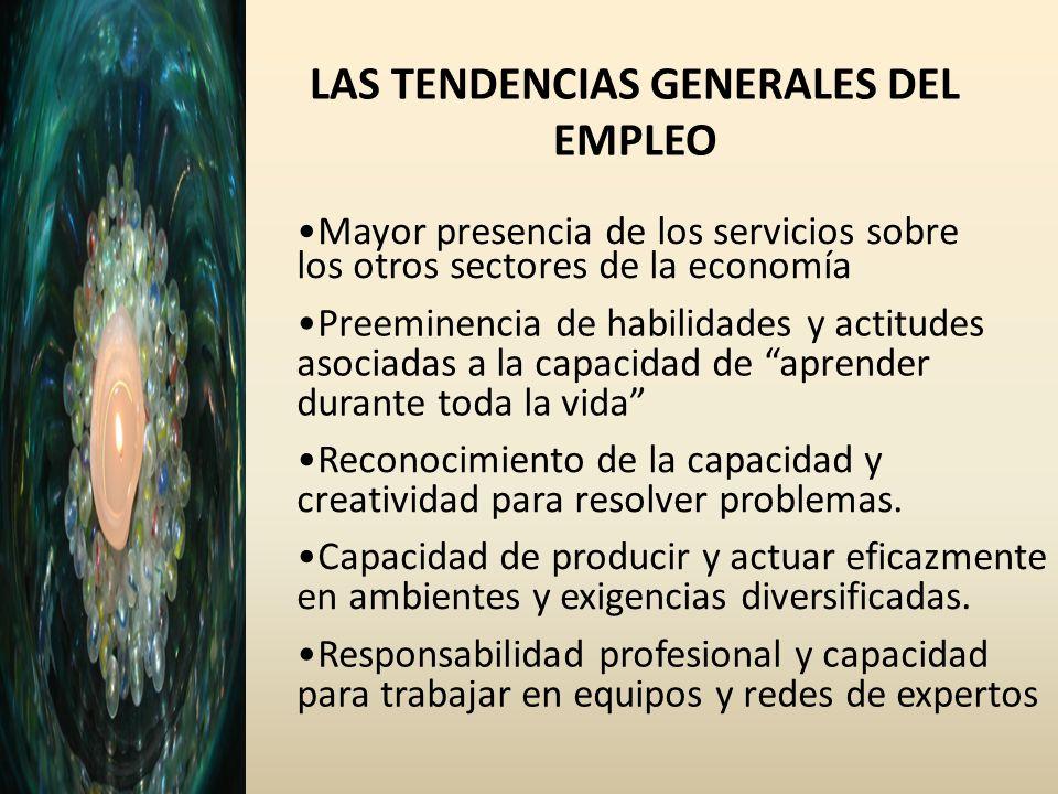 LAS TENDENCIAS GENERALES DEL EMPLEO