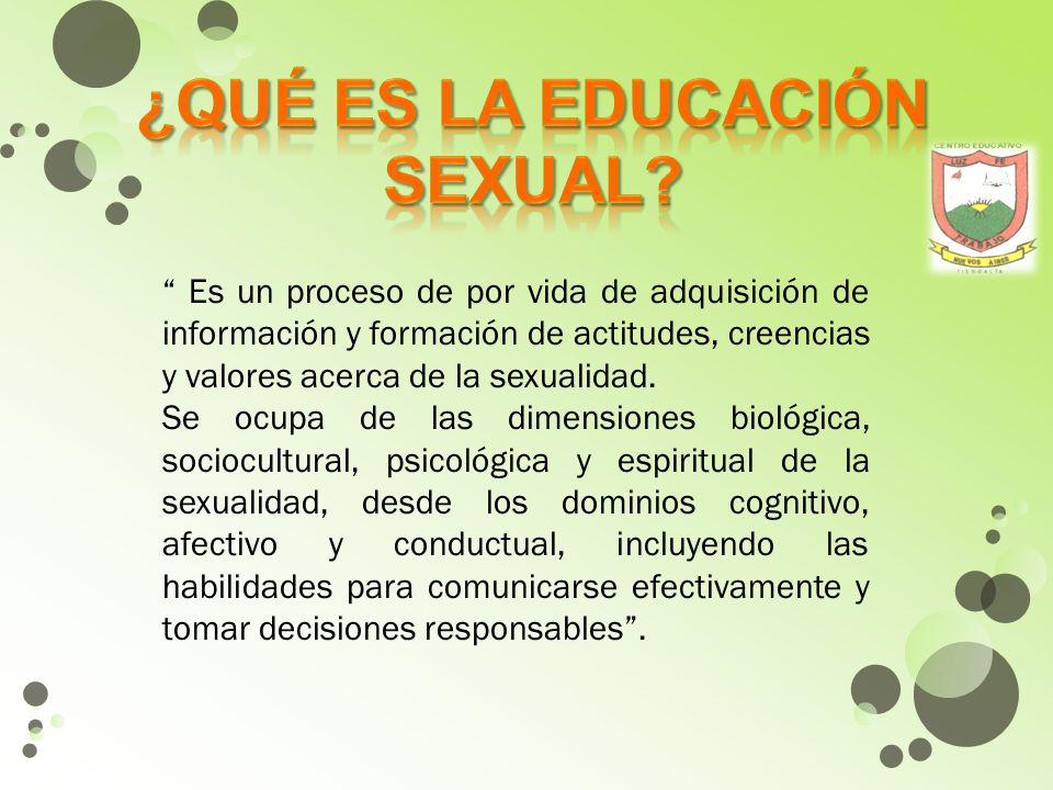¿qué es la educación sexual