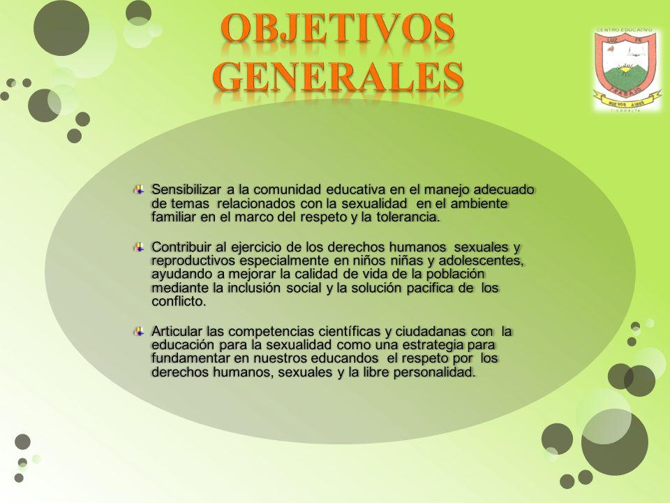 OBJETIVOS GENERALES