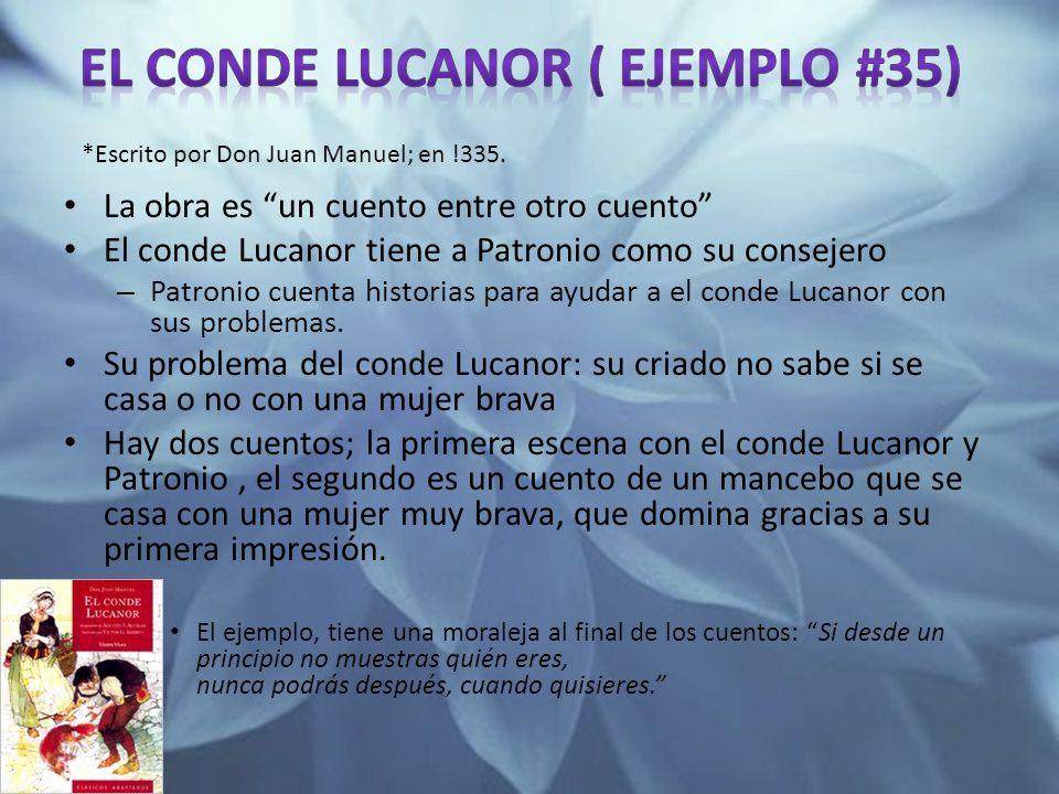 El conde Lucanor ( ejemplo #35)