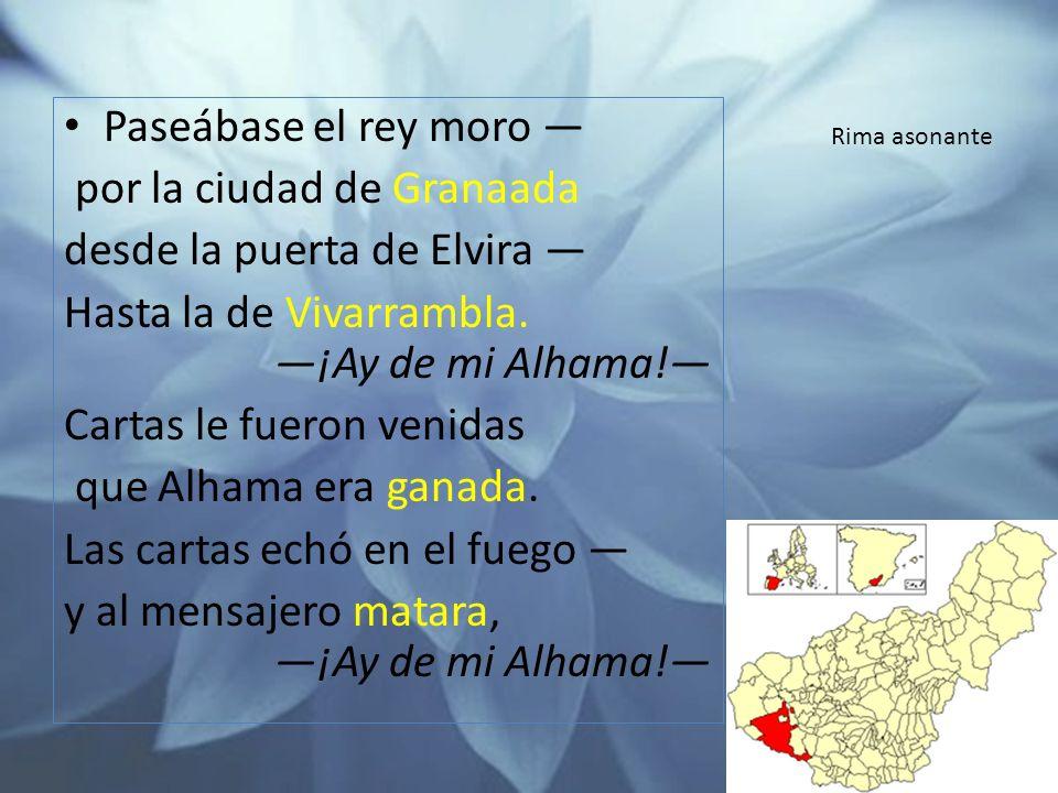 por la ciudad de Granaada desde la puerta de Elvira —