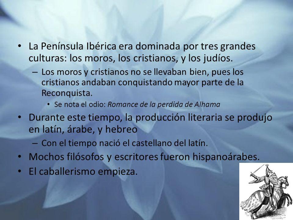Mochos filósofos y escritores fueron hispanoárabes.