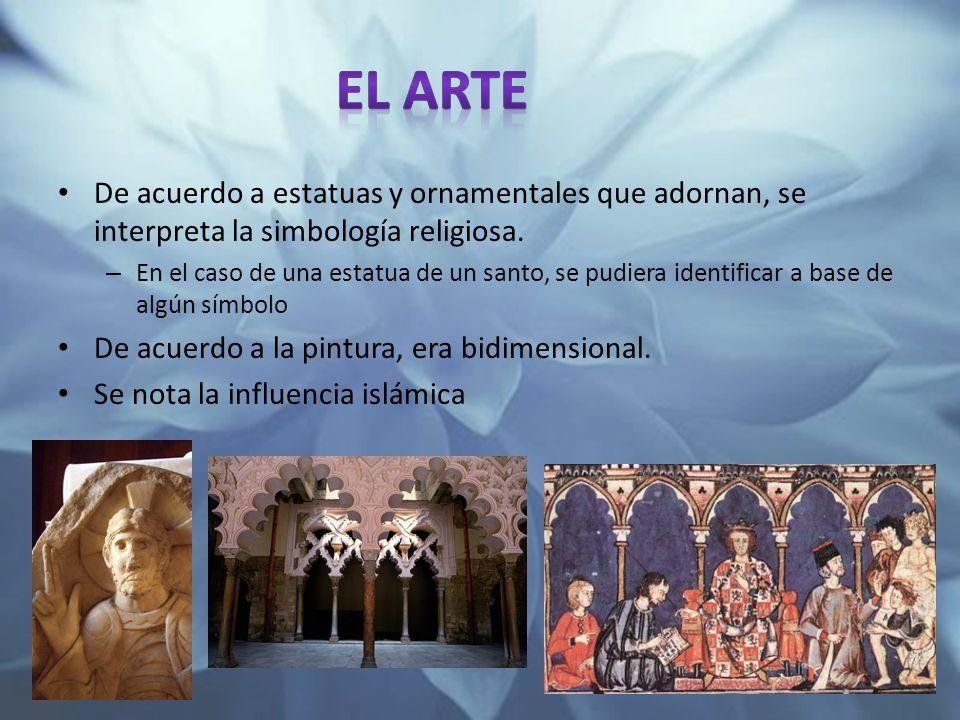 El arte De acuerdo a estatuas y ornamentales que adornan, se interpreta la simbología religiosa.