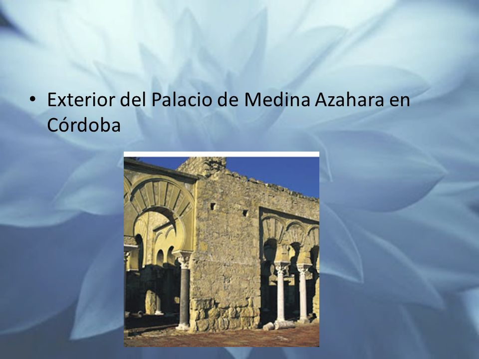 Exterior del Palacio de Medina Azahara en Córdoba